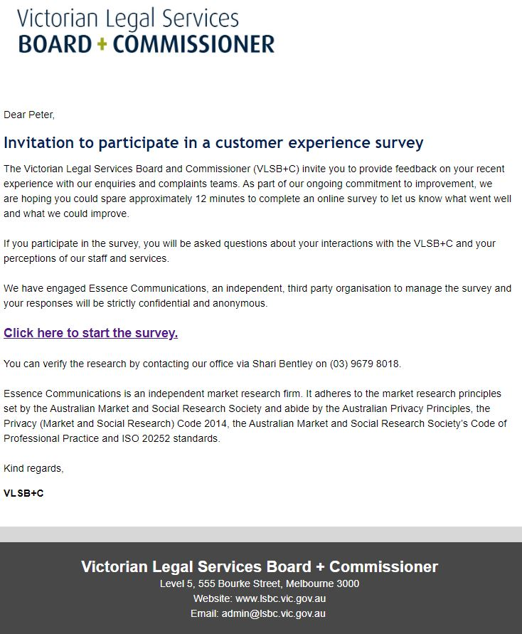Victorian Legal Services Board and Commissioner